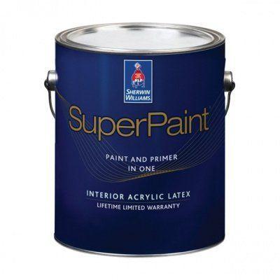 Суперматовая интерьерная краска для стен Super Paint Flat галлон (3,8л) Sherwin-Williams