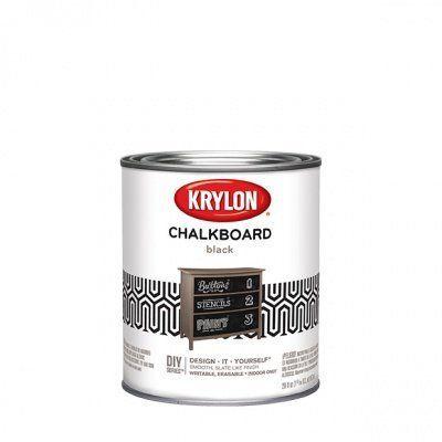 Краска с эффектом грифельной (школьной) доски Krylon Chalkboard Paint кварта (0,95л) Sherwin-Williams