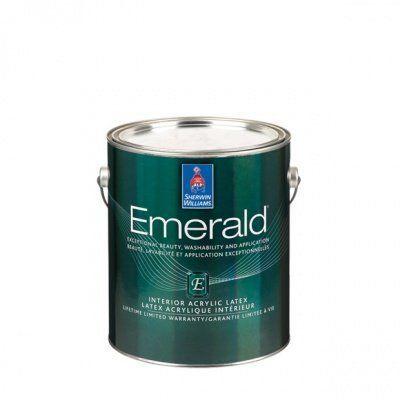 Глубокоматовая краска для внутренних работ Emerald Interior Flat кварта (0,95л) Sherwin-Williams