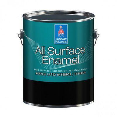 Универсальная эмаль для металла и лепнины All Surface Enamel Satin галлон (3,8л)