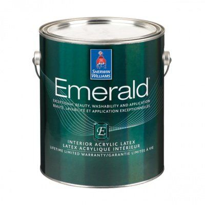 Глубокоматовая износостойкая интерьерная краска для стен Emerald Interior Flat галлон (3,8л) Sherwin-Williams