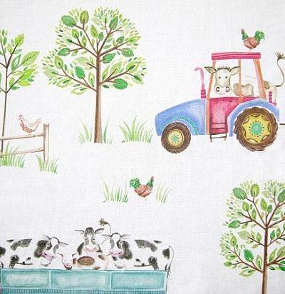 детские ткани Down On The Farm White Voyage Decoration