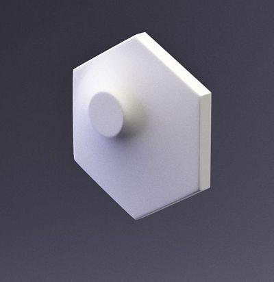 E-0006 3D  Heksa-dots Дизайнерская панель ARTPOLE