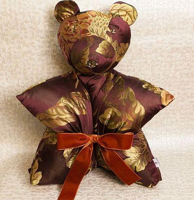 Подушка-медведь с узором ZR brown ZimmerRohde