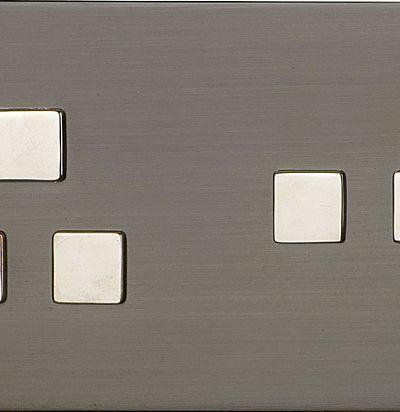 Tetra 155x84 мм, горизантальный Nickel Розетка из латуни L'artisan
