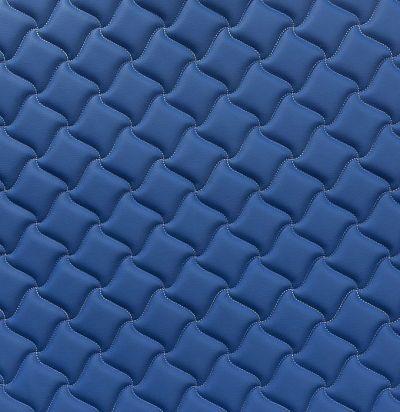 Стеганые обои темно-синие дизайн клевер 10-003-025-20