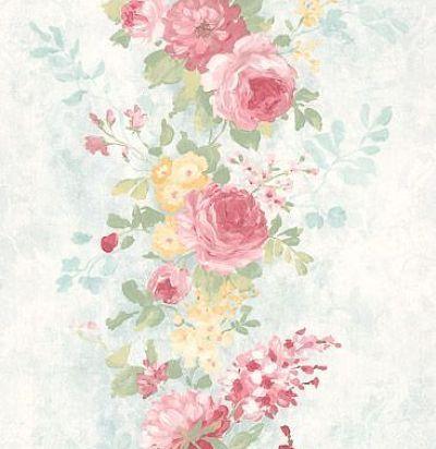 обои полосами из цветов CD003110 Chelsea Decor Wallpapers