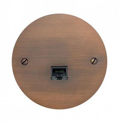 Sphere 84x84 мм Cuivre antique Латунная розетка L'artisan