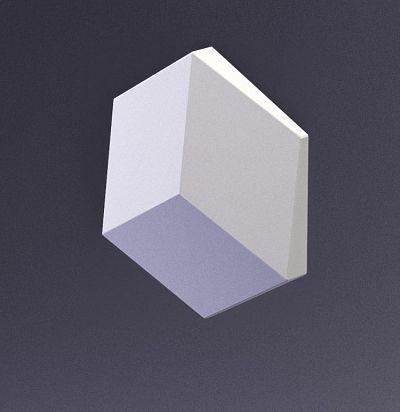 E-0021 3D  Cube-solo Дизайнерская панель из гипса ARTPOLE