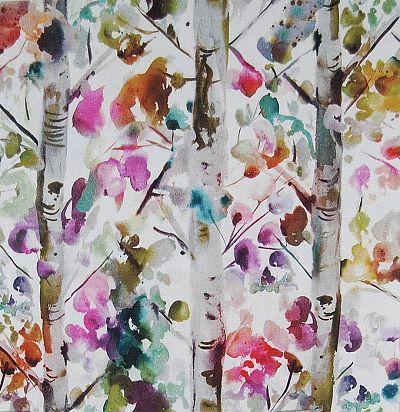 Льняная портьерная ткань с современным узором Jumanah Lotus Voyage Decoration