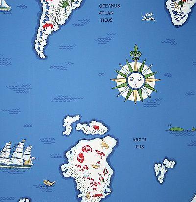 Обои карта мира PLWP-62185 Ralph Lauren