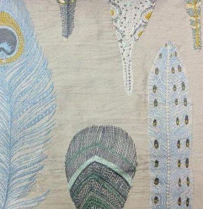 Шелк с вышивкой Samui Natural Voyage Decoration