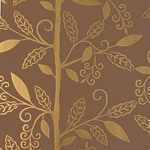 Фото: Обои Thibaut Filigree T2041 Greenwood Metallic on Brown- Ампир Декор