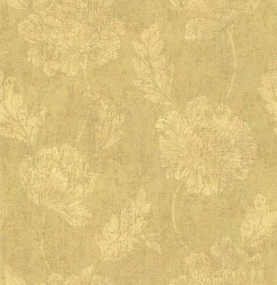 обои золотистые с цветами CD002053 Chelsea Decor Wallpapers