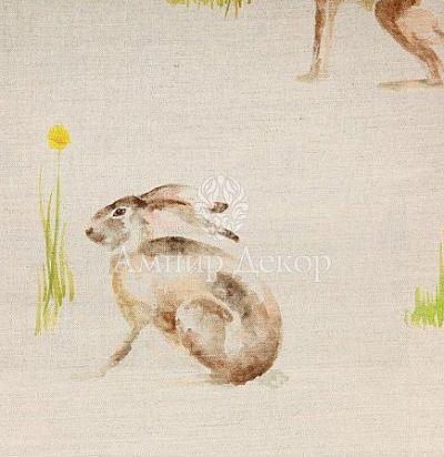 портьерная английская ткань Racing Hares Linen Voyage Decoration