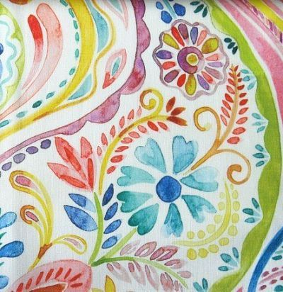 Яркая льняная ткань с принтом Oberek Carnival Voyage Decoration