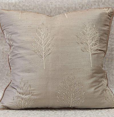 подушка декоративная из шелка с бисером Lyra Copper Voyage Decoration