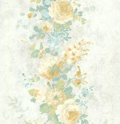 обои серые с розами CD003107 Chelsea Decor Wallpapers