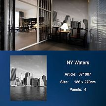 Фото: Обои KT Exclusive Metropolis 871007 NY Waters- Ампир Декор