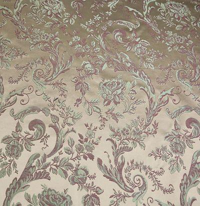 жаккардовая ткань с цветочным узором Lago 6218-200/538/19 Ampir Decor