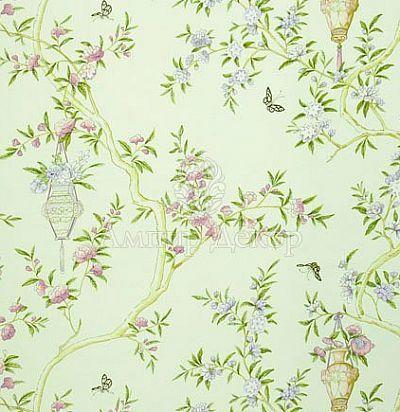 натуральная ткань с растительным узором FQ043/03 The Royal Collection