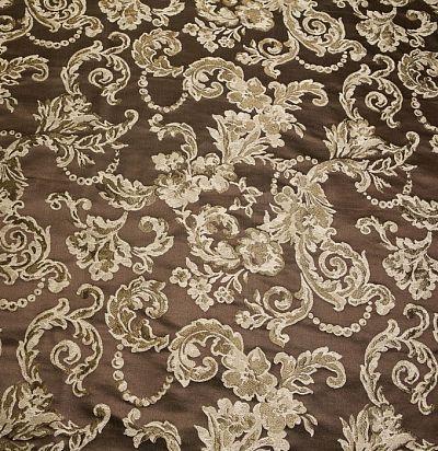 шелковая ткань для портьер с растительным орнаментом S5509-31293 Ampir Decor