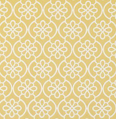 желтая  ткань из хлопка с цветочным узором 32748/539 Duralee
