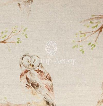 портьерная английская ткань Large Owls Linen Voyage Decoration