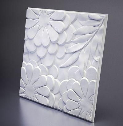 М-0042 3D  Flora Дизайнерская панель из гипса ARTPOLE