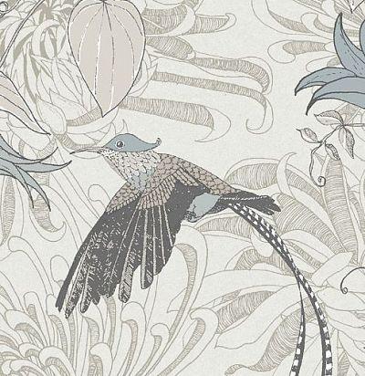 обои с цветами и птицами 10906 Fardis