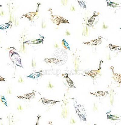 портьерная английская ткань Waterfowl Cream Voyage Decoration