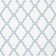 Фото: Обои Thibaut Graphic Resource T35114 Stanbury Trellis Blue- Ампир Декор