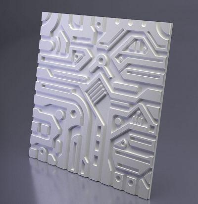 М-0045 3D  Ex-machina A Дизайнерская панель ARTPOLE