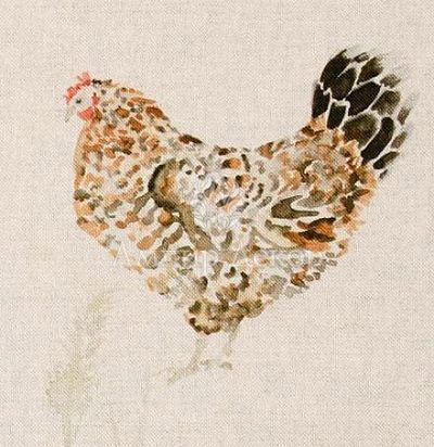портьерная английская ткань Chook Chook Linen Voyage Decoration