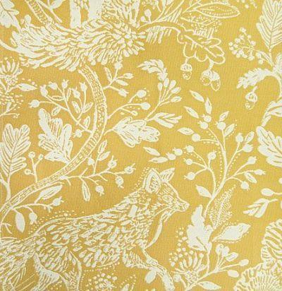 ткань из хлопка желтого оттенка Cademuir Lemon Voyage Decoration