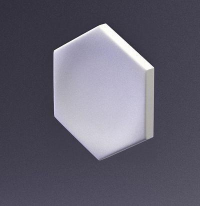 E-0004 3D  Heksa-button Дизайнерская панель из гипса ARTPOLE