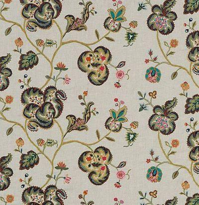 ткань из англии с вышитыми цветами FD713Y101 Mulberry