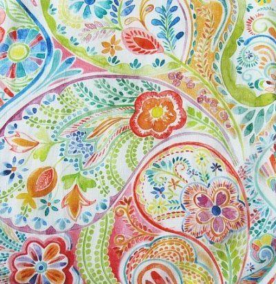 Яркая льняная ткань с принтом Oberek Small Carnival Voyage Decoration
