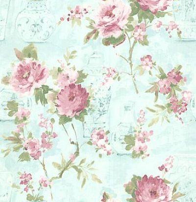 обои с вазами и розами CD003123 Chelsea Decor Wallpapers