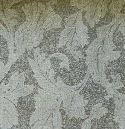 ткань серого оттенка с растительным узором Glencoe Peat Voyage Decoration