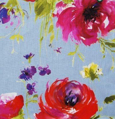 Яркая портьерная ткань с цветочным узором Mazurka Sea Voyage Decoration