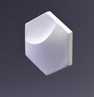 E-0007 3D  Heksa-moon Дизайнерская панель ARTPOLE