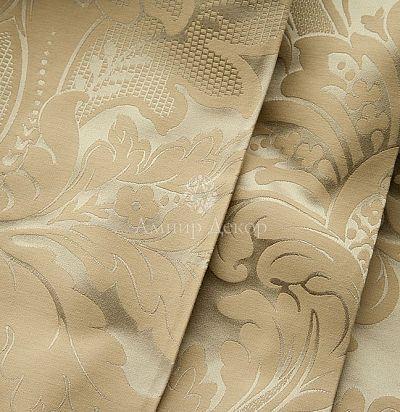 Жаккардовая ткань с классическим рисунком дамаск 5809-200/414 Aleria Ampir Decor