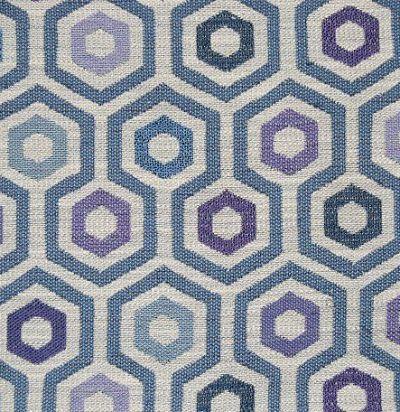 Обивочная ткань с геометрическим узором Kizzy Blueberry Voyage Decoration