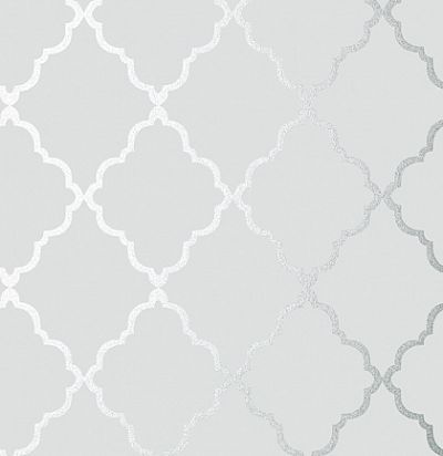Обои Anna French Seraphina AT6057 Klein trellis Silver on Grey Anna French