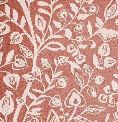 ткань красного оттенка Harlow Coral Voyage Decoration