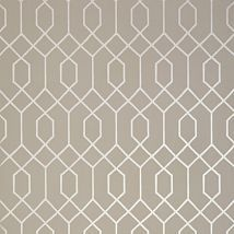 Фото: Обои Thibaut Graphic Resource T35203 La Farge Metallic Pewter on Taupe- Ампир Декор
