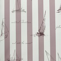 Фото: Обои KT Exclusive Stars&Stripes 2800014 Sailing mauve- Ампир Декор