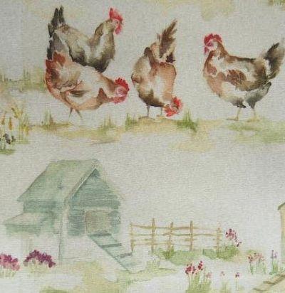 Английская ткань Henny Penny Oil Cloth Voyage Decoration