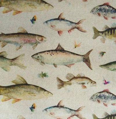 Английский хлопок Mini Riverfish Oil Cloth Voyage Decoration